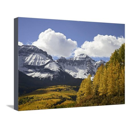 Sneffels Range with Fall Colors, Near Ouray, Colorado, United States of America, North America Stretched Canvas Print Wall Art By James Hager