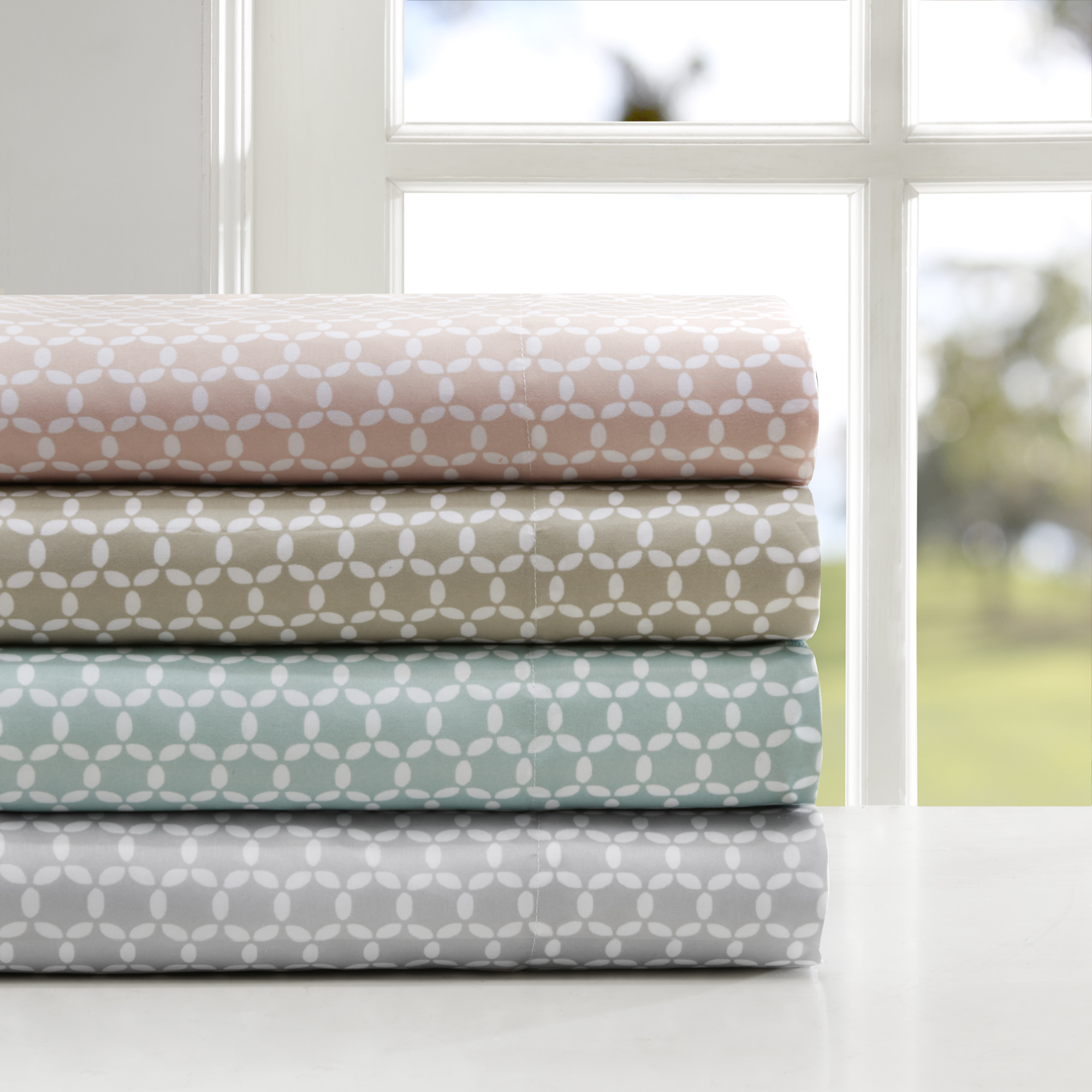 Comfort Classics 3M Microcell Printed Sheet Set