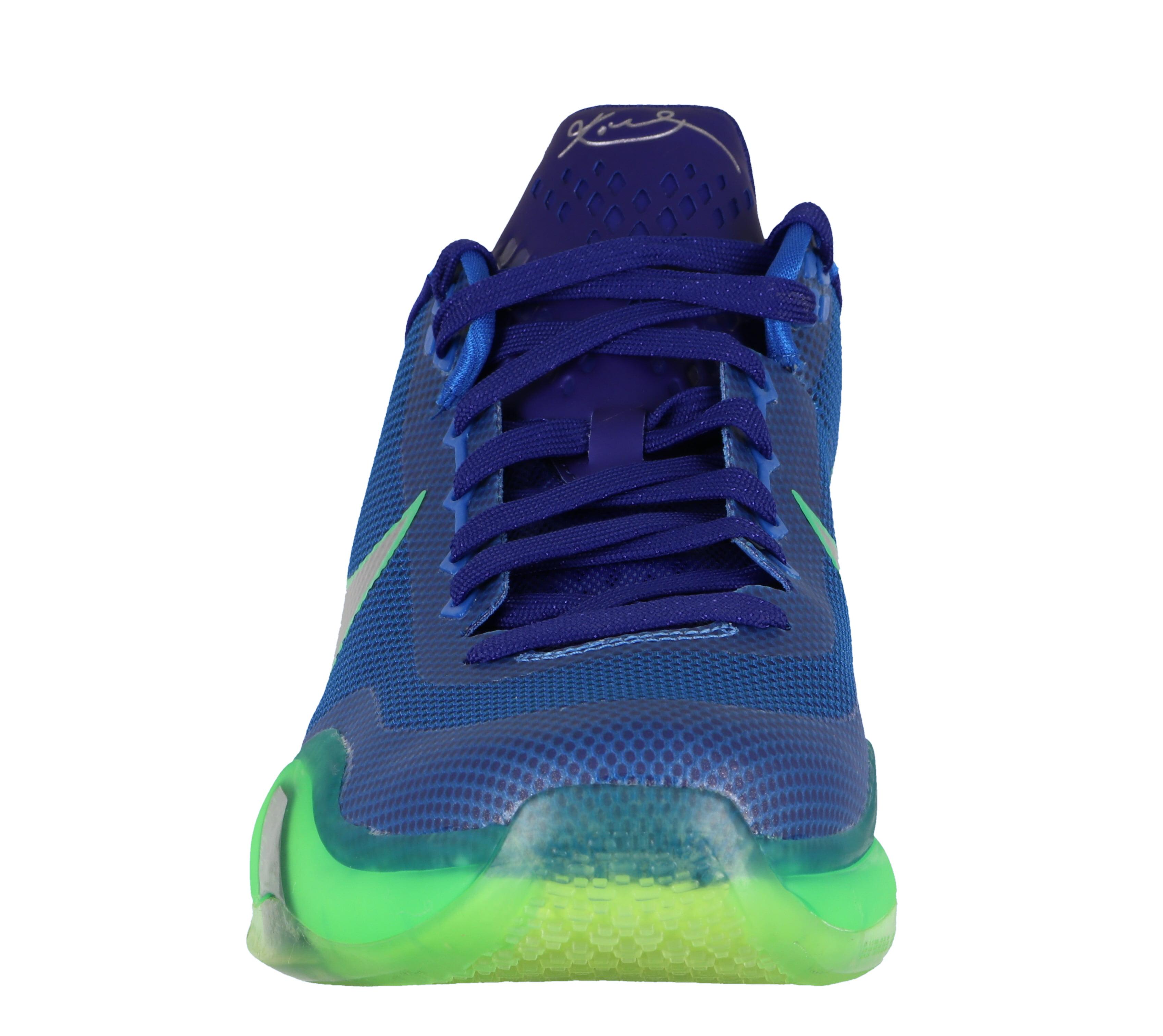 Nike Men's Kobe X Basketball Shoes sz 13 Green Royal Blue Emerald City Seattle Seahawks