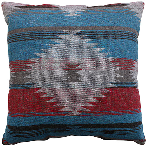 """Better Homes and Gardens Southwest Diamonds Decorative Throw Pillow, 18"""" x 18"""", Turquoise"""