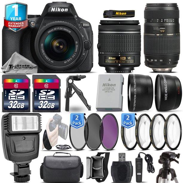 Nikon D5600 DSLR Camera + 18-55mm VR + 70-300mm + 1yr Warranty + Remote + 64GB