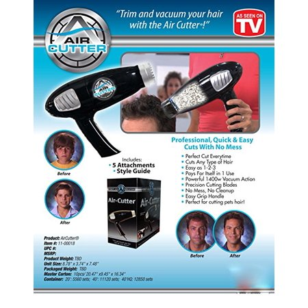 Air Cutter  Trim And Vacuum Your Hair With No Mess   As Seen On Tv