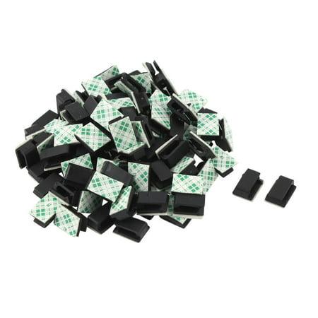 100 PCS Adhesive Wire Cord Cable Holder Tie Clip Fixer Organizer ...