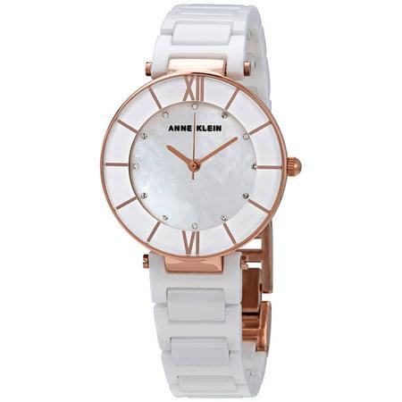 Anne Klein Mother of Pearl Dial Ladies Ceramic Watch AK/3266WTRG