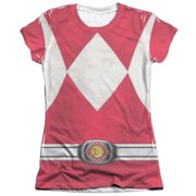 Mighty Morphin Power Rangers Red Ranger (Front Back Print) Juniors Shirt