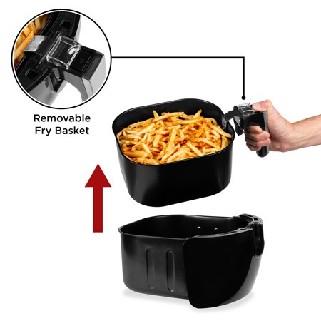 Best Choice Products 5.5qt 6-in-1 Digital Family Sized Air Fryer Kitchen Appliance w/ LCD Screen and Non-Stick Fryer Basket, Black