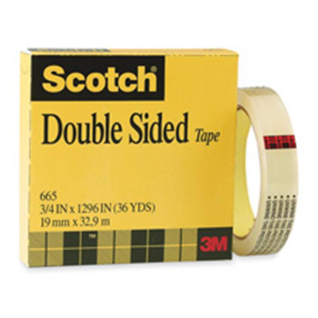 3M MMM66512900 Double-sided Tape- 1in.Core- .50in.x900in.- Clear
