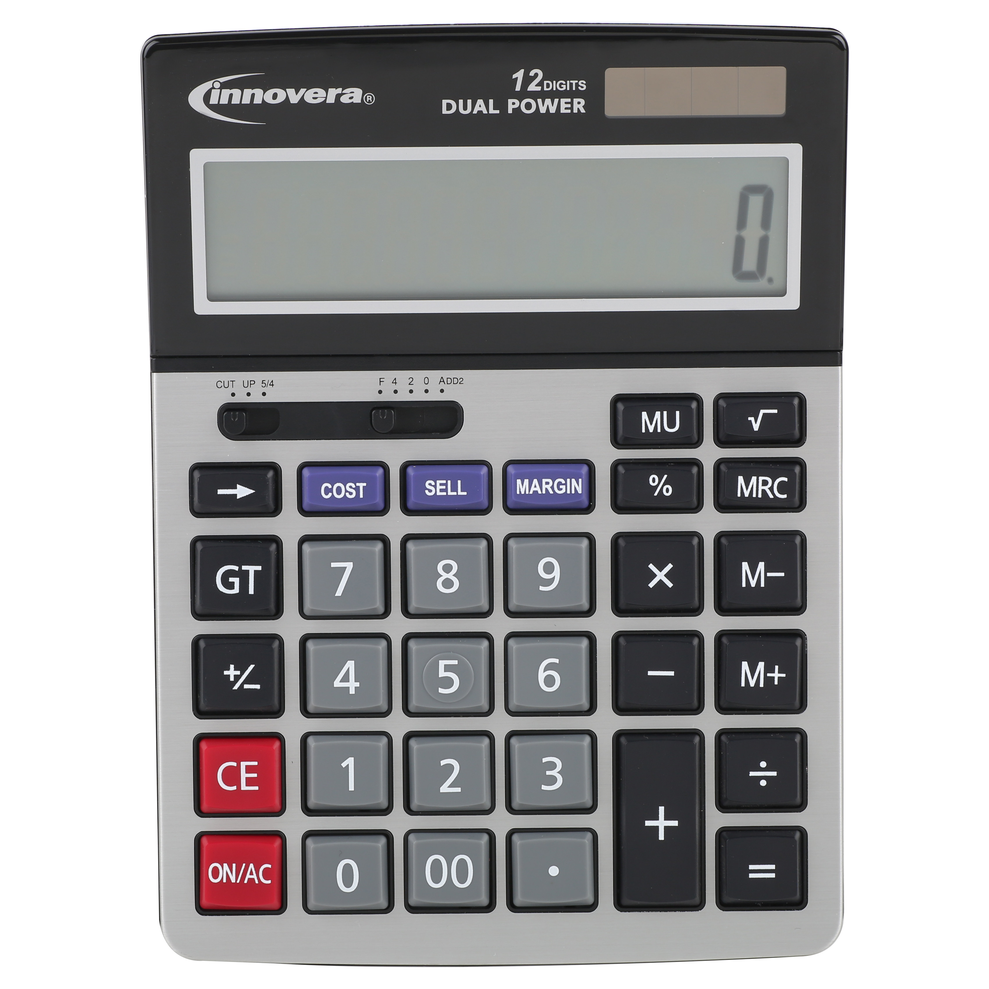 Innovera 15968 Minidesk Calculator, 12-Digit LCD