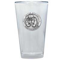 USMC Bulldog Pint Glass by Heritage Metalworks