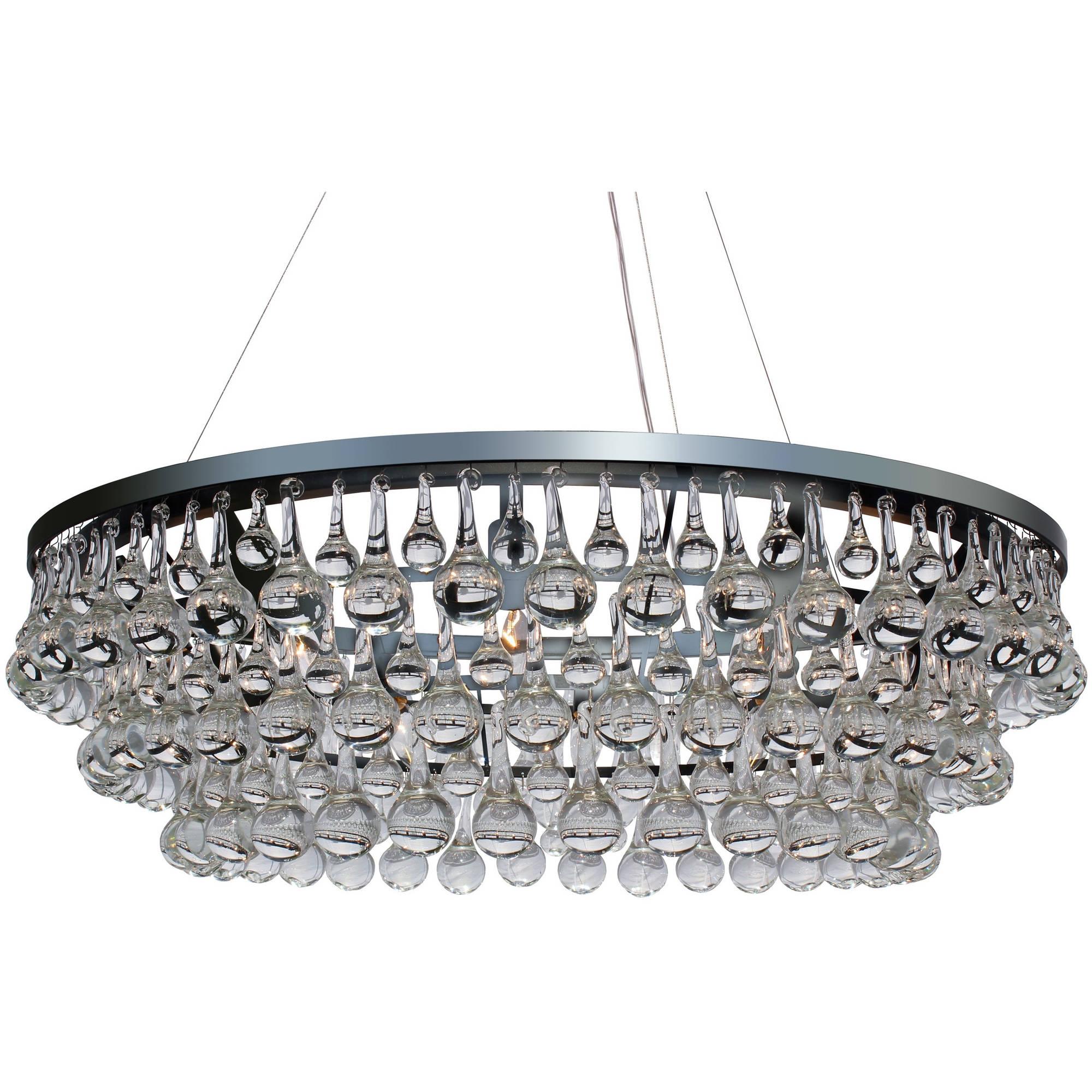 glass drop light fixture celeste glass drop crystal chandelier chrome walmartcom
