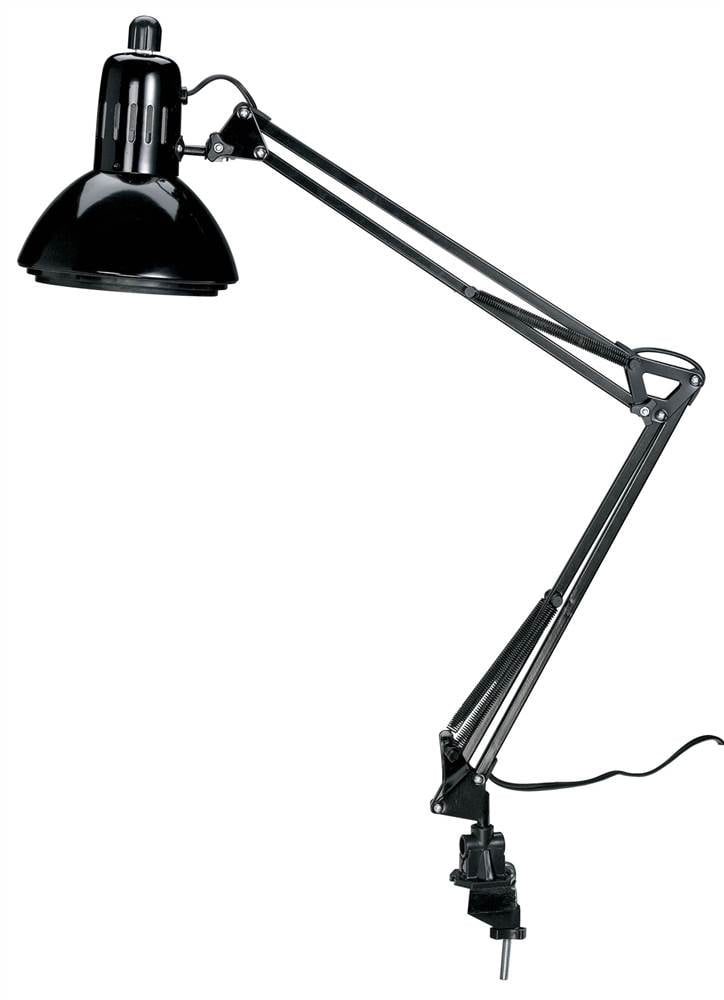 Swing Arm Lamp w Metal Shade in Black by Alvin & Company Inc.