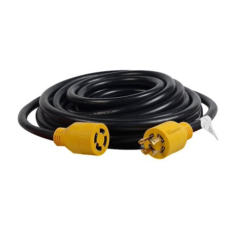 MaxWorks 80841 GEC3025 – 25 Ft. Heavy Duty Generator 4-Prong Twist Lock Extension Cord 125V/250V 30 Amp L14-30P (Male) L14-30R (Female) – ETL/CETL Listed