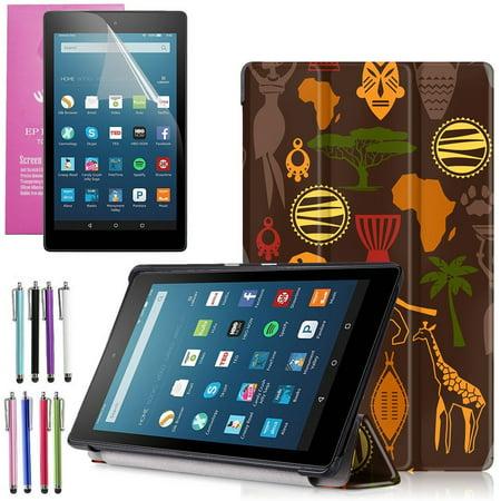 All New Amazon Fire Hd 8 Case  2016 6Th Gen   Epicgadget Tm  Auto Sleep   Wake Premium Leather Folding Folio Case For Fire Hd 8  8  Hd Display Tablet   Fire Hd 8 Screen Protector  Safari