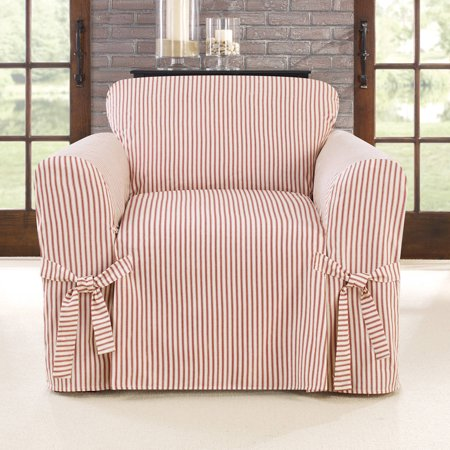 Sure Fit Ticking Stripe One Piece Chair Slipcover - Walmart.com