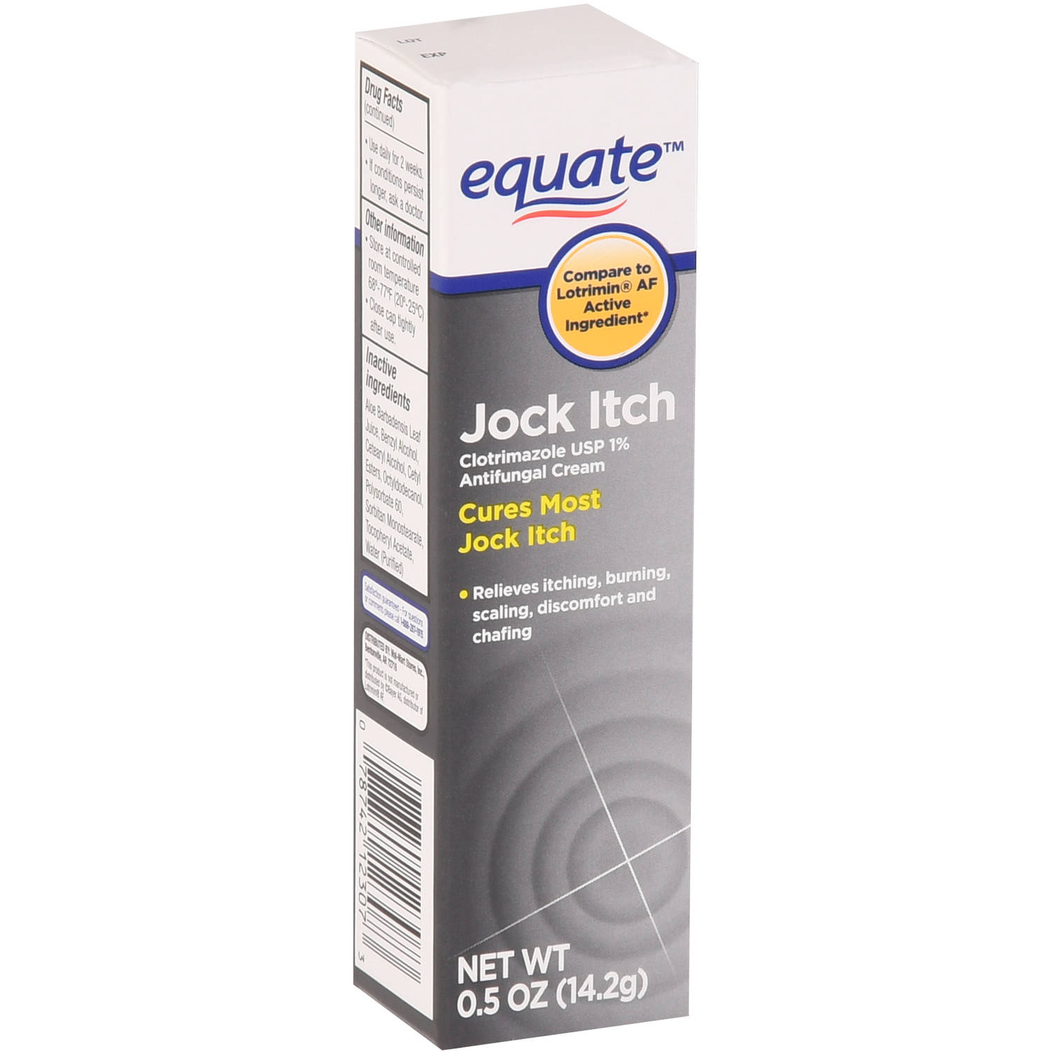 Equate Jock Itch Antifungal Cream, 0.5 oz