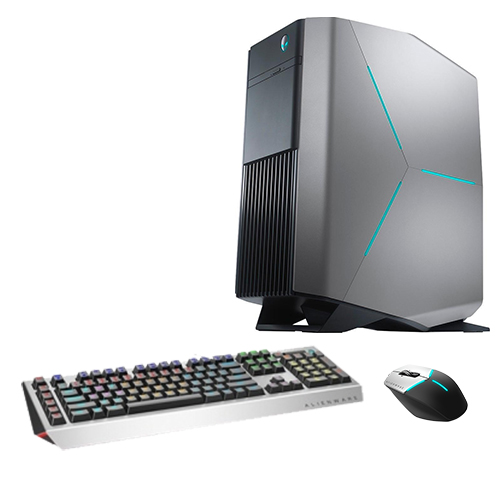 Alienware Aurora R7 Gaming Desktop Computer Intel Core i5 GeForce GTX 1060 6GB Silver Bundle  -  Pro Gaming Keyboard black & gray - Advanced Gaming Mouse black & silver - 8th Gen i5-8400 Hexa-