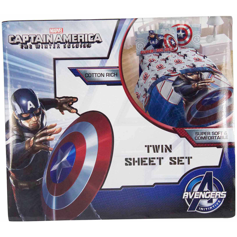 Marvel Captain America Winter Soldier Sheet Set - Walmart.com