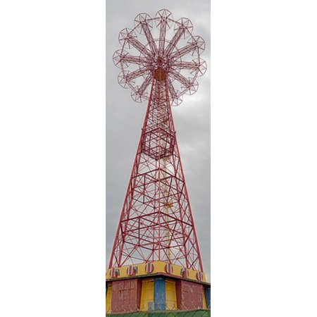 Parachute Jump Tower along Riegelmann Boardwalk Long Island Coney Island New York City New York State USA Stretched Canvas - Panoramic Images (36 x - Party City Long Island City