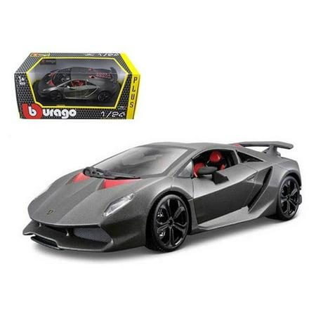 Bburago 21061gry Lamborghini Sesto Elemento Matt Grey 1 24 Diecast