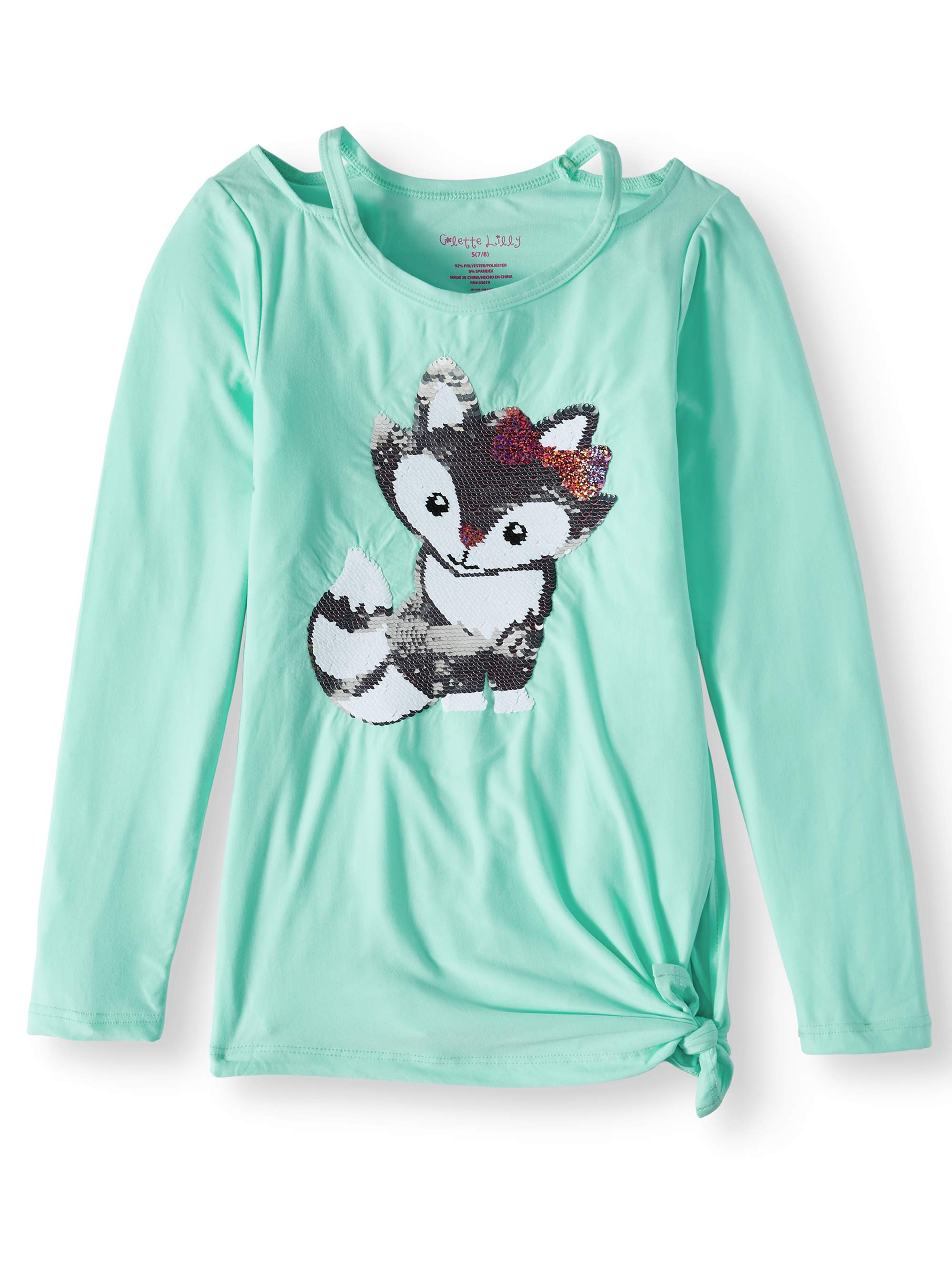 Colette Lilly Girls Long Sleeve Sequin Tee