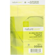 Nature Saver 100% Recycled Jr. Ruled Legal Pads, 1 Dozen