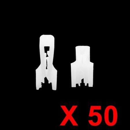50pcs White Plastic Car Console Retainer Auto Dashboard Instrument Clip Fastener - image 1 of 2