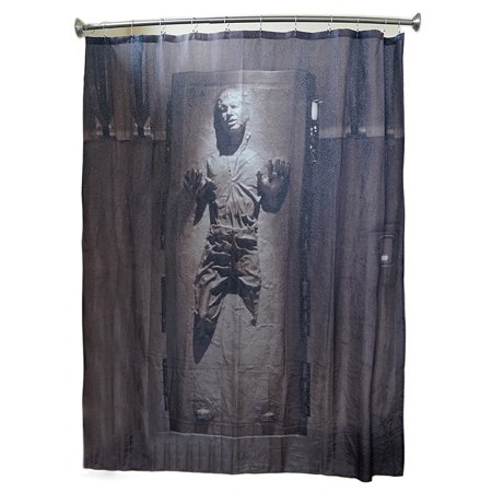 star wars han solo in carbonite shower curtain. Black Bedroom Furniture Sets. Home Design Ideas