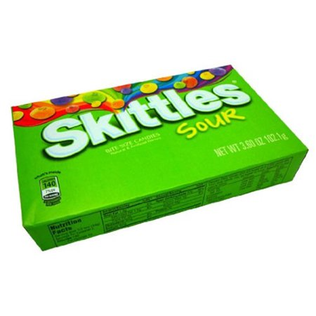 Skittles Sours (1) Box Bite Size Candies, 3.2 oz
