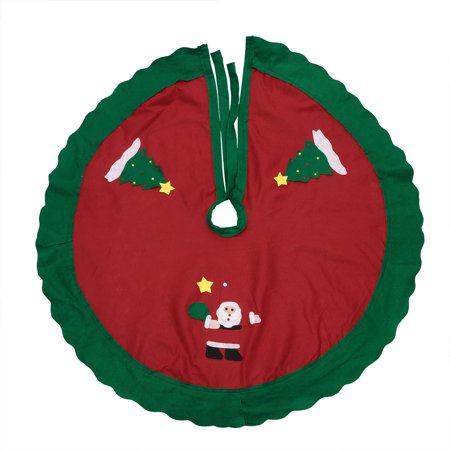 86cm Christmas House Round Tree Skirt With Santa Claus Pattern Xmas Tree Circle Base Cover Christmas Tree Ornaments Decoration Home Party Festival Decor Supplies (Tree Skirt Pattern)
