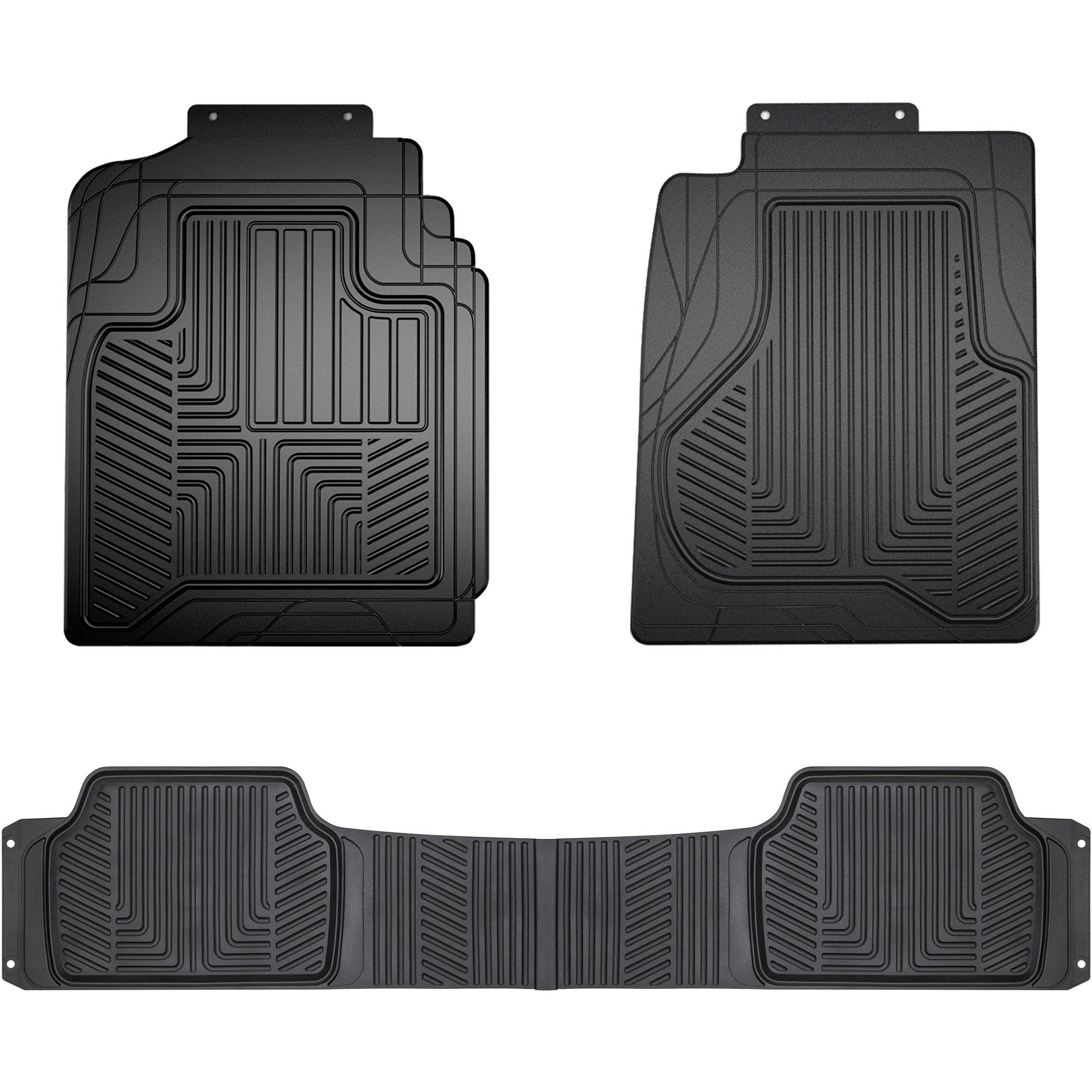Truck Floor Mats >> Armor All Full Coverage Black Hd Rubber Truck Floor Mat Walmart Com