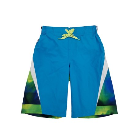 373cd21417 ZeroXposur - Boys Colorful Blue & Green Surf Shorts Swim Trunks ...