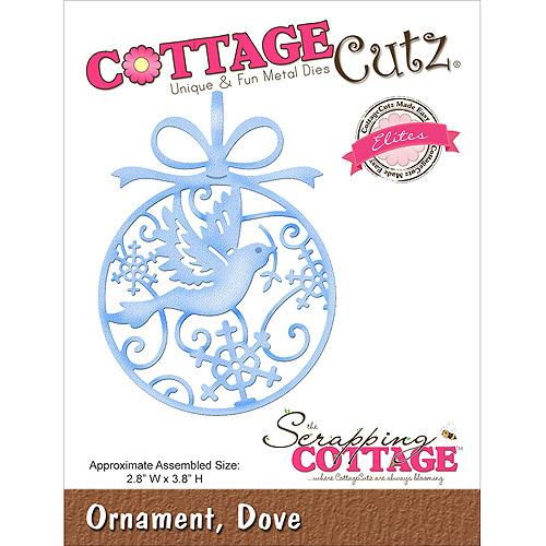 CottageCutz Elites Die, Dove Ornament