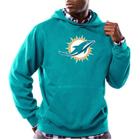 NFL Mens Miami Dolphins Tek Patch Fleece Hoodie by