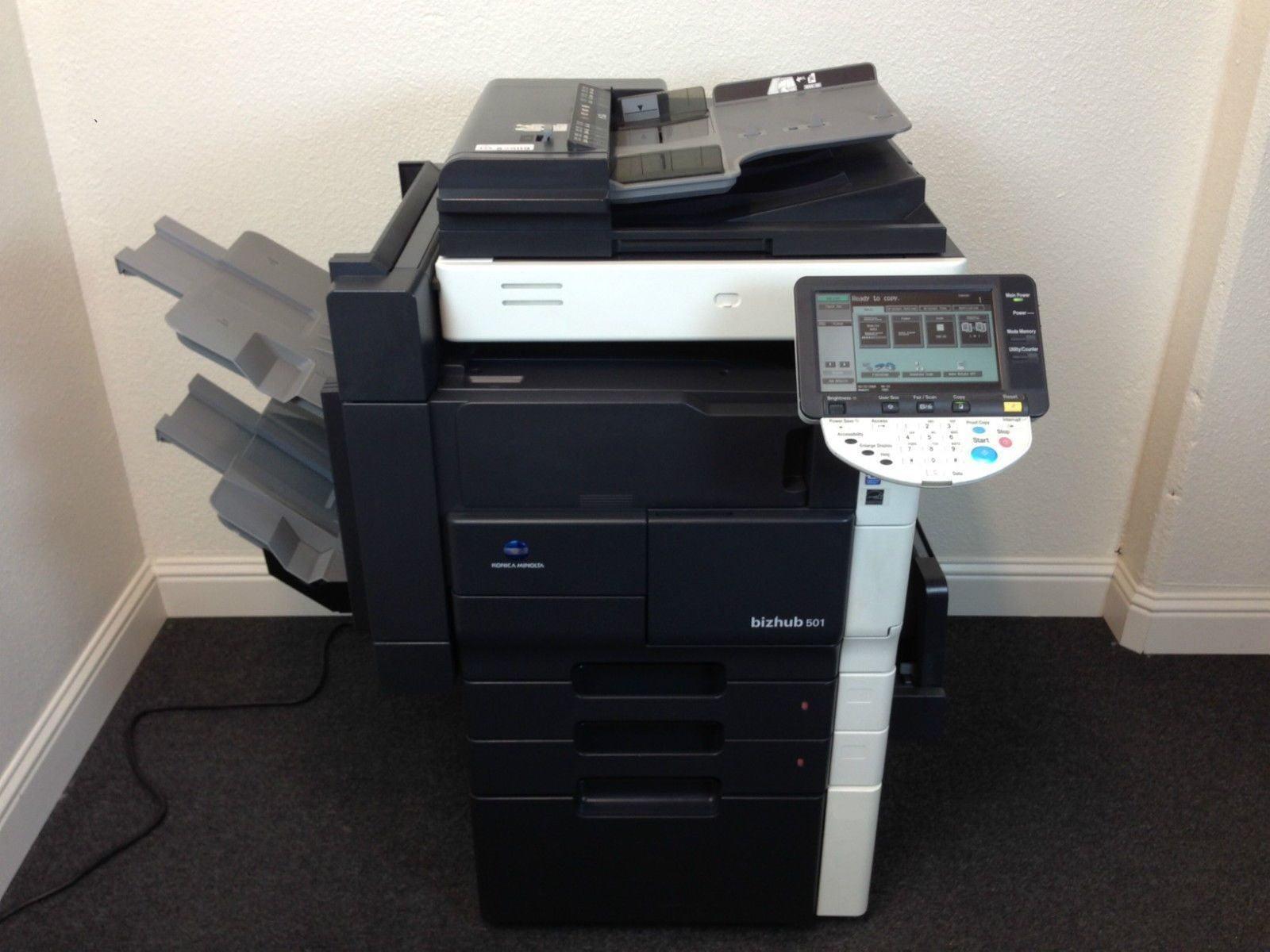 Konica Minolta Bizhub 501 Copier Printer Scanner Staple Finisher Fax & Network by Konica Minolta