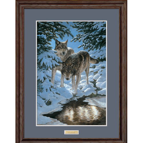 Wild Wings Icy Dawn by Persis Clayton Weirs Framed Painting Print by
