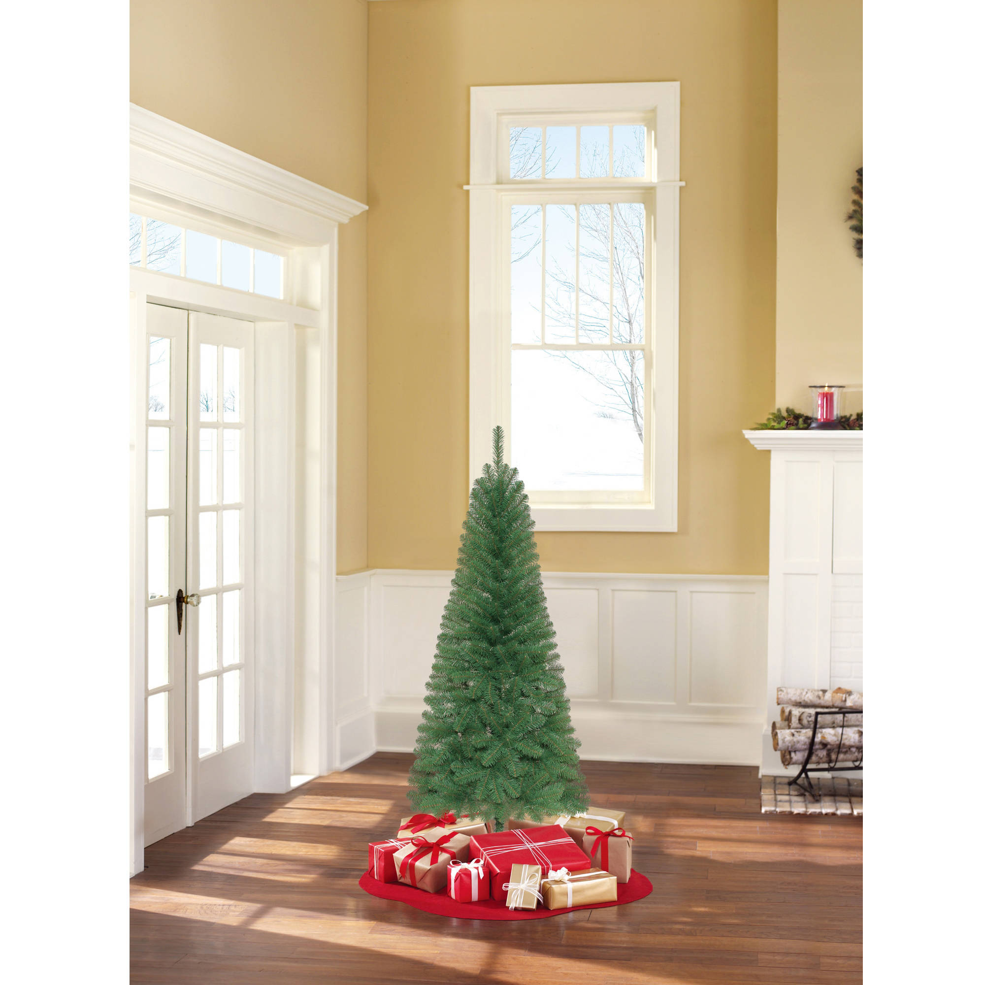Holiday Time Unlit 6 Wesley Pine Artificial Christmas Tree