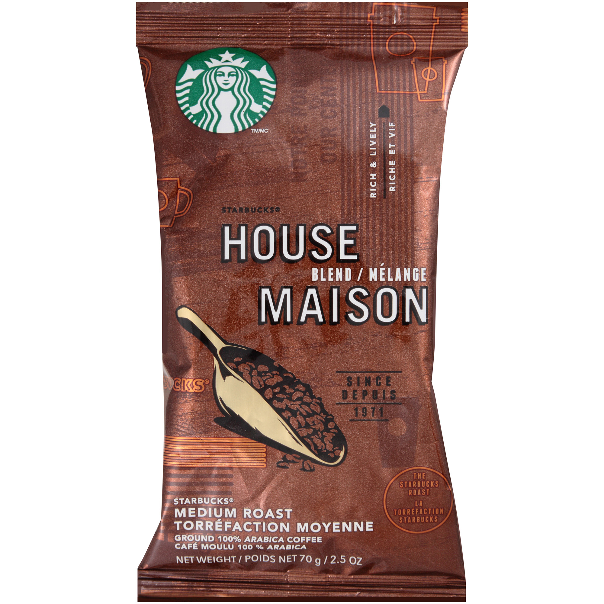 Starbucks House Blend Ground Coffee, 18ct