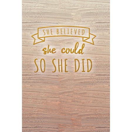 She Believed She Could So She Did : Pink Bullet Journal Notebook for Women  Dot Grid Dotted Pages Small Planner Sketchbook Diary (6 X 9) Softbound