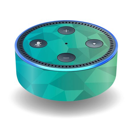 Skin Decal Wrap For Amazon Echo Dot  2Nd Generation  Stickers Blue Green Polygon