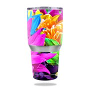 MightySkins Protective Vinyl Skin Decal for Ozark Trail 30 oz Tumbler wrap cover sticker skins Colorful Flowers
