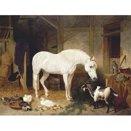 Bentley Global Arts PDX264987SMALL Stable Companions Poster Print by John Frederick Herring, 11 x 14 - Small