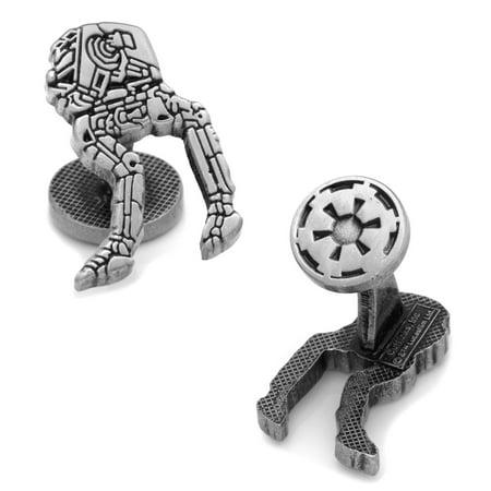 CUFFLINKS INC Mens AT-ST Walker Cufflinks (Silver) - Modern Jewelry Accessory