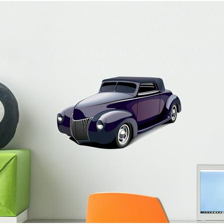 - Classic Purple Muscle Car Wall Decal Sticker, Wallmonkeys Peel & Stick Vinyl Graphic (12 in W x 8 in H