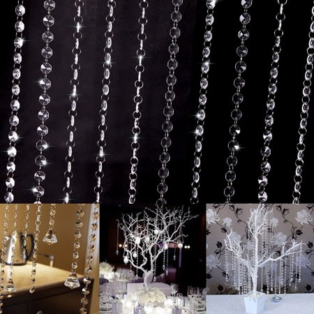 SUPERHOMUSE 10Pcs Luxury Bead Curtain, Acrylic Crystal Bead Curtains Decoration For Shopping Arcade Store Hotel Cafe Living Room ()