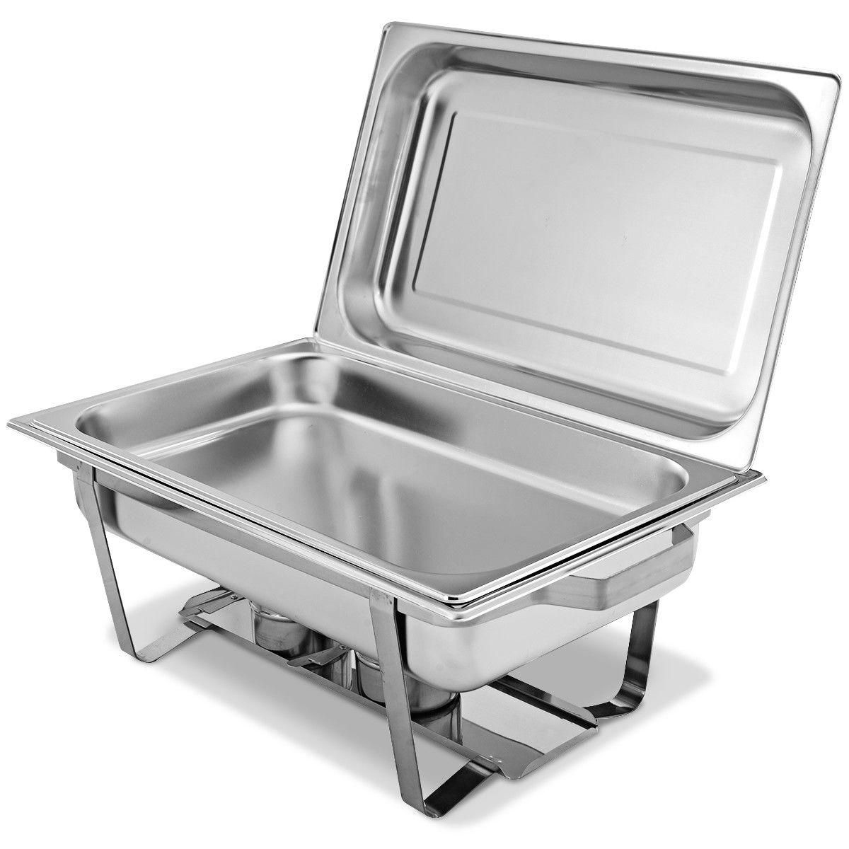 2 Packs Chafing Dish 9 Quart Stainless Steel Rectangular Chafer Full Size Buffet - image 5 of 10