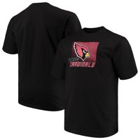 ffe25651df6e Product Image Men s Majestic Black Arizona Cardinals Big   Tall Reflective  T-Shirt