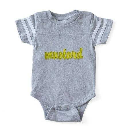 df9a10eb9 CafePress - FIN Shiny Mustard - Cute Infant Baby Football Bodysuit -  Walmart.com