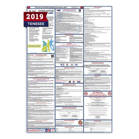Labor Law Poster (2019 Tennessee State and Federal Labor Law Poster (Laminated) )