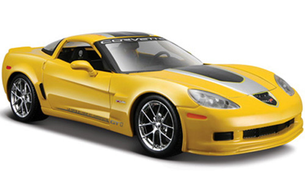 Chevy Corvette Z06 GT1 Commemorative Edition, Yellow Maisto 31203 1 24 Scale Diecast Model... by Maisto