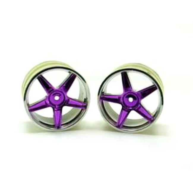 Redcat Racing 06024pp Chrome Rear 5 Spoke Purple Anodized Wheels - For All Redcat Racing Vehicles